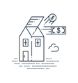 Real estate investment icon vector image vector image