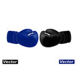 realistic boxing gloves in the vector image