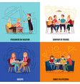 restaurant pub visitors concept vector image