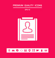 resume icon symbol graphic elements for your vector image