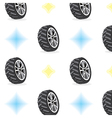 Seamless Pattern With Wheels vector image vector image