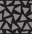 seamless triangles vector image vector image