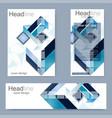 set flyer brochure size a4 templatebanner vector image