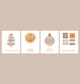 set holiday cards with and congratulatory vector image