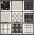 set of graphic seamless patterns vector image vector image