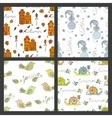 Set of seasonal seamless pattern vector image vector image