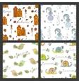 set seasonal seamless pattern vector image vector image