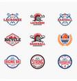 sports logo badges 8 vector image vector image
