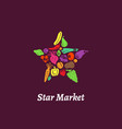star market label vector image vector image