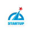 start-up - logo template concept vector image vector image