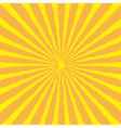 sunburst with ray light yellow and orange back vector image
