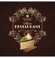 Sweets dessert restaurant menu vector image