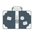 travel vacation suitcase cartoon vector image
