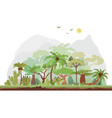 tropical rainforest landscape with palms vector image vector image