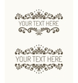 Two hand drawn decorative border vector image
