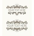 Two hand drawn decorative border vector image
