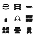 Types tag icons set simple style vector image vector image
