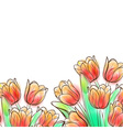 Watercolor tulips vector image vector image