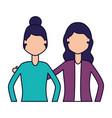 women characters portrait vector image vector image