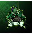 zombie undead mascot logo design vector image vector image