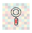 pixel icon magnifying glass on a square vector image