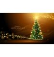 Shining Christmas tree vector image