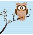 owl brown tree leaves brown vector image