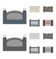 a fence of metal and brickswooden palisade a vector image