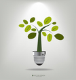 A light bulb with tree vector image vector image