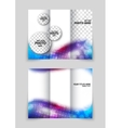 Abstract wavy brochure vector image vector image