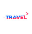 airplane slice travel logo modern and clean symbol vector image