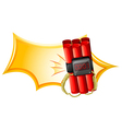 An explosive weapon with a timer vector image vector image