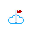 atmosphere golf logo icon design vector image vector image