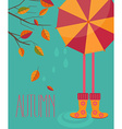 Autumn season in flat style vector image vector image