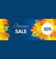 autumn start sale concept banner flat style vector image vector image