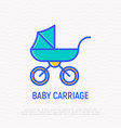 baby carriage thin line icon vector image