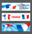 banners with map and flag france vector image vector image