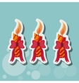 Birthday candle icon design vector image