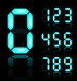 blue glowing digital numbers vector image vector image