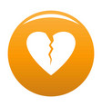 broken heart icon orange vector image