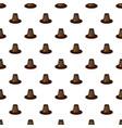 brown hat pattern vector image