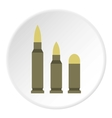 Bullets icon flat style vector image vector image