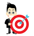 businessman holding a target vector image vector image