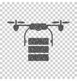 Cargo Drone Grainy Texture Icon vector image
