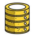 cartoon image of database icon vector image vector image