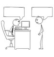 cartoon of boss manager talking with male vector image