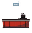 cashier counter in supermarket shop store vector image