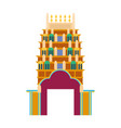 cathedral churche tibetan temple building landmark vector image vector image