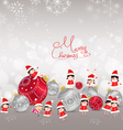Christmas background with bauble kids snow and vector image vector image