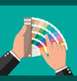 color swatch color palette guide in hand vector image vector image